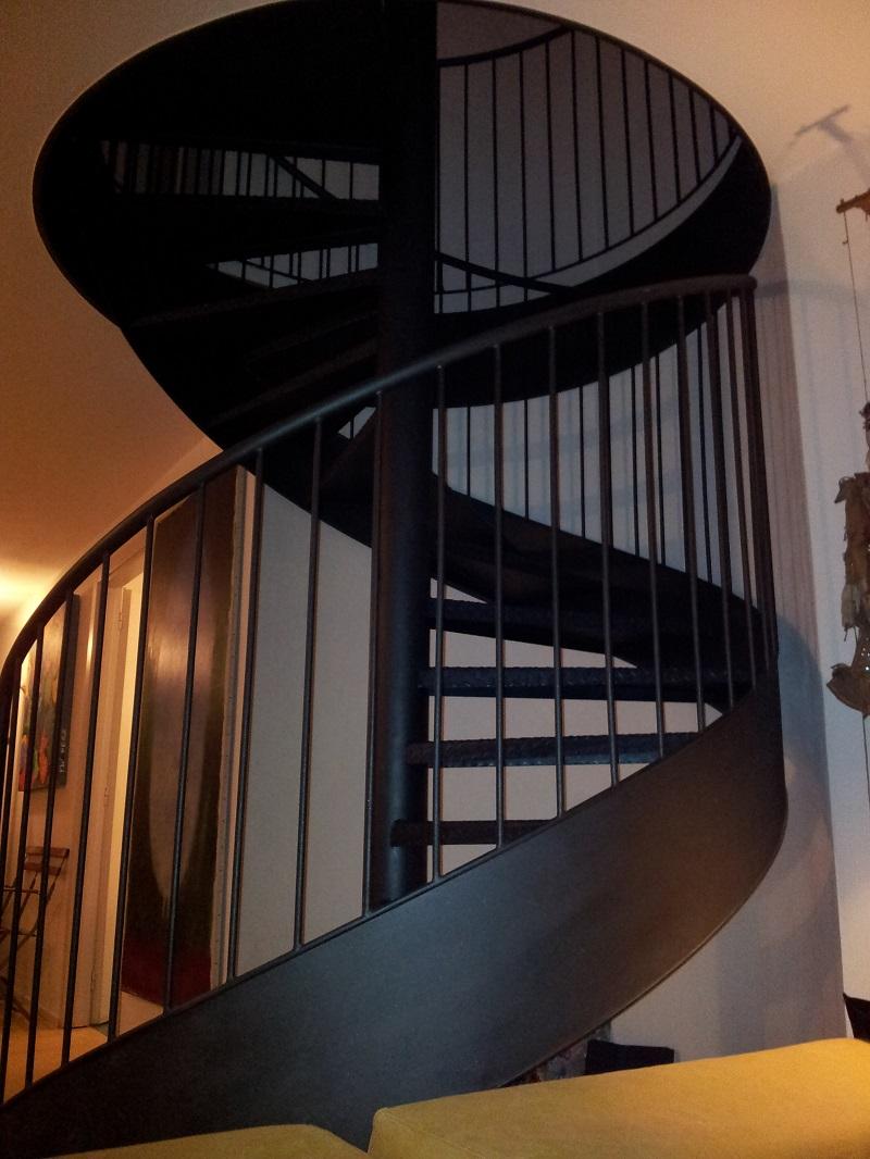 RML Steel Industries Interior Steel Spiral Staircase Black